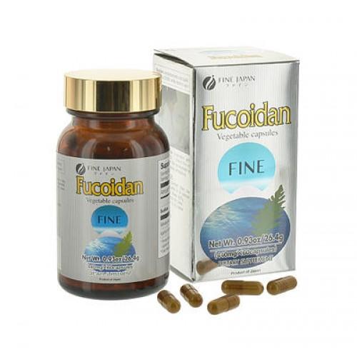 Fucoidan Fine japan hộp 60 viên tách biệt vùng tế bào ung thư