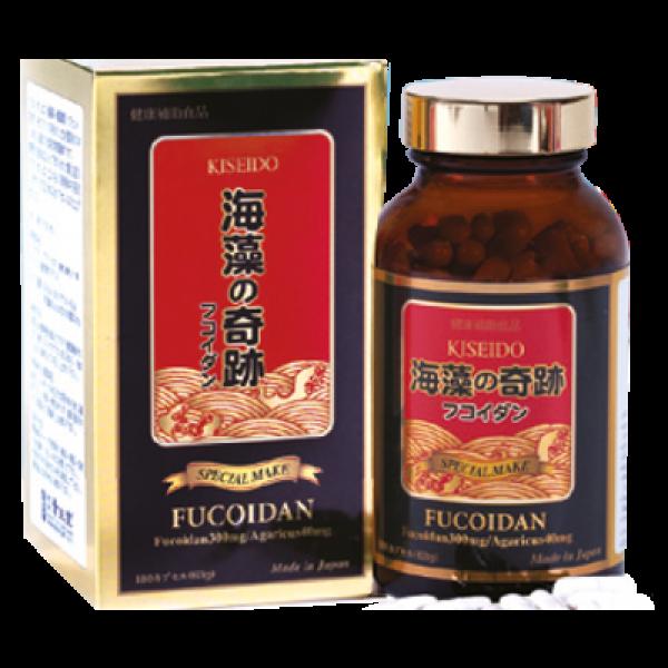 Fucoidan Kiseido hộp 180 viên nhật bản hỗ trợ điều trị ung thư