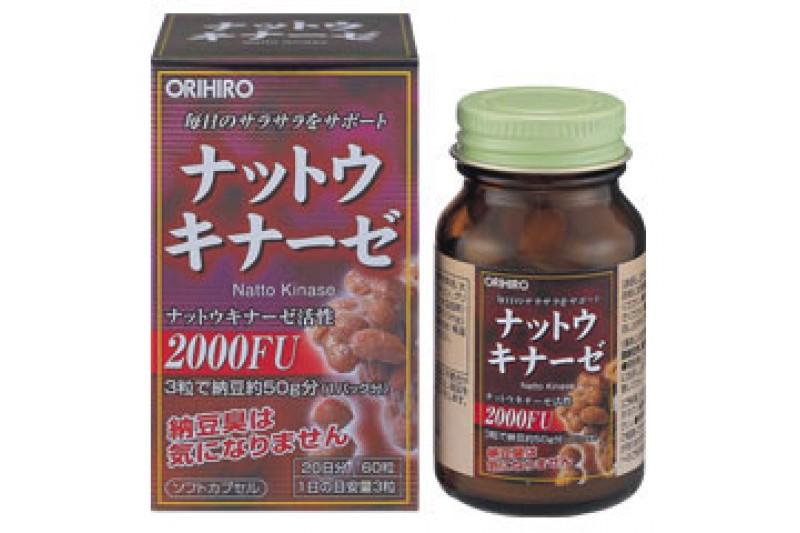Nattokinase 2000FU Orihiro Nhật bản Phòng chống đột quỵ, tai biến