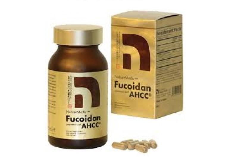 NatureMedic Fucoidan AHCC hộp vàng 160 viên xuất xứ Nhật Bản