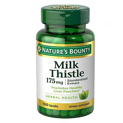 Giải độc gan Natures Bounty Milk Thistle 175mg