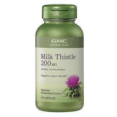 Viên uống giải độc gan GNC Milk Thistle 200mg của Mỹ