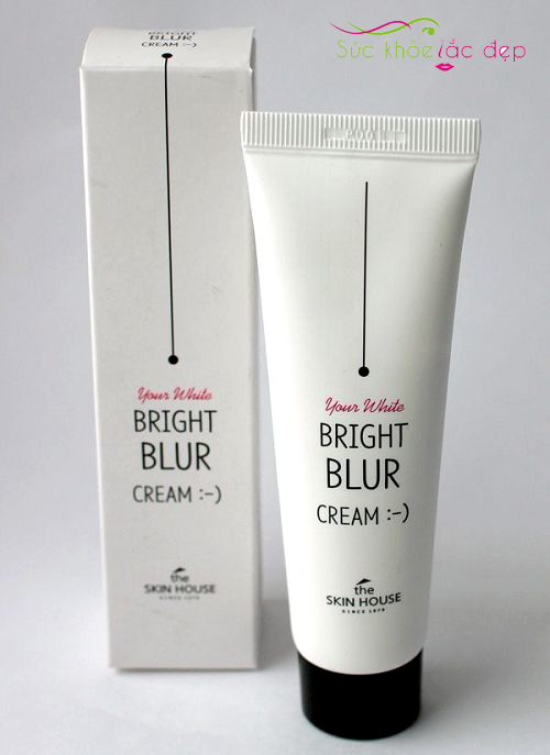 kem dưỡng the skin house bright blur cream