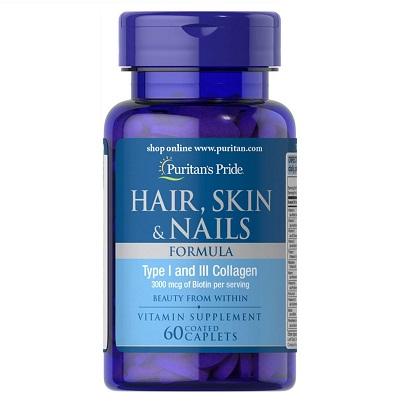 hair skin nails puritan's pride 60 viên