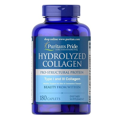 hydrolyzed collagen 1000 mg puritan's pride lọ 180 viên