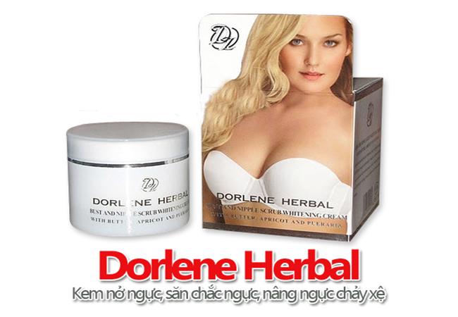 Kem nở ngực Dorlene Herbal giúp bộ ngực căng tròn, săn chắc