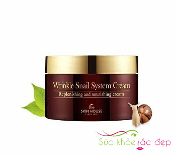 kem ốc sên the skin house wrinkle snail system cream