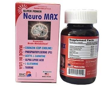 Super Power Neuro Max – tăng cường chuyển hóa tế bào não