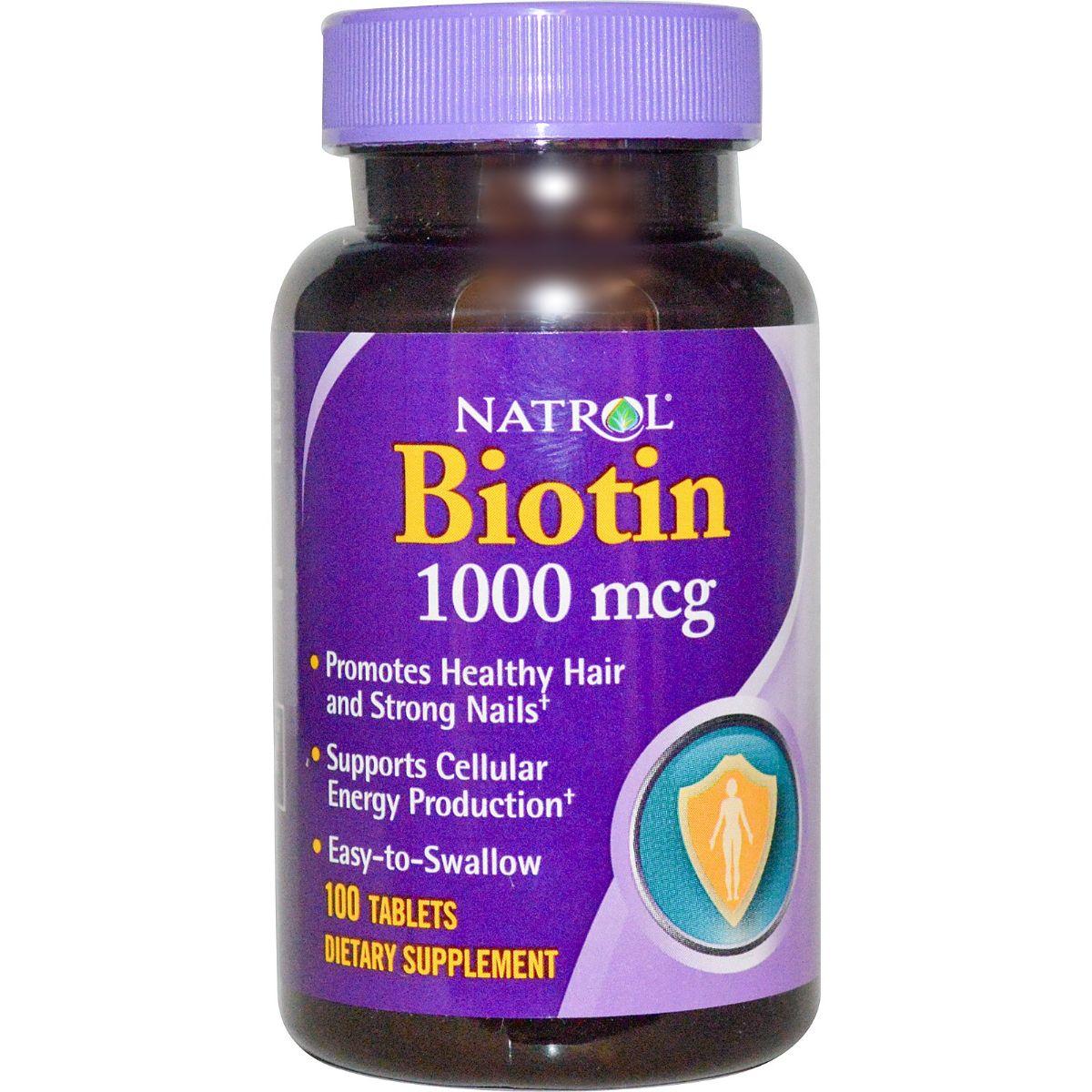 Natrol Biotin 1000 mcg – Viên uống kích thích mọc tóc và chăm sóc móng hiệu quả.