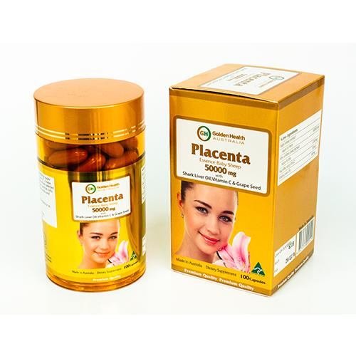 Nhau thai cừu golden health Placenta 50000mg hộp 100 viên