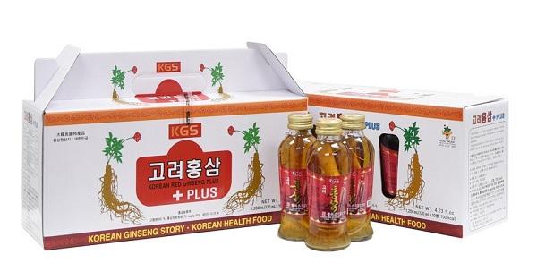 Nước hồng sâm có củ KGS 120ml x 10 chai Hàn quốc chính hãng