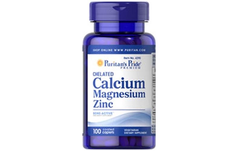Puritan's Pride Calcium Magnesium Zinc 100 viên - Bảo vệ xương khớp hiệu quả