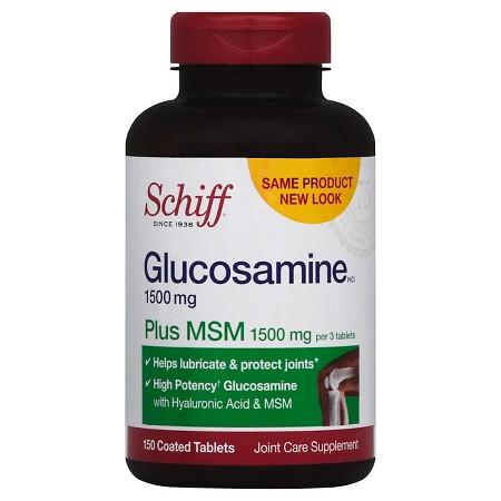 Schiff Glucosamine Plus MSM 1500mg Hỗ trợ giảm Đau Nhức Khớp