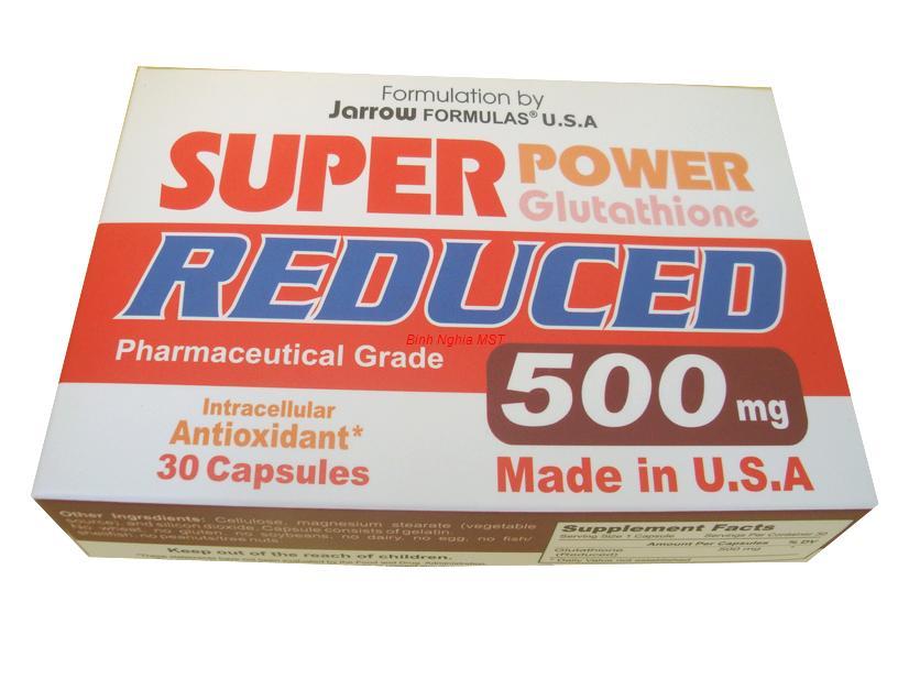 Super power glutathione reduced 500 mg - bổ gan tiêu độc