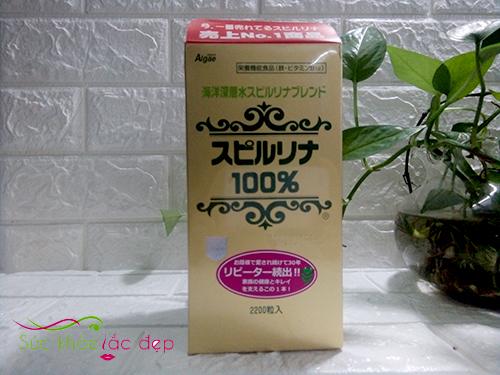 Review tảo xoắn Nhật Bản – Tảo xoắn Spirulina Nhật Bản 2200 viên