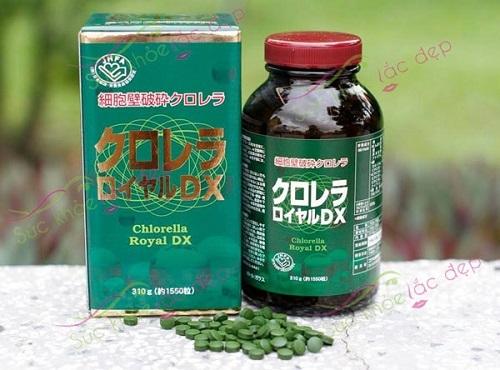 review tảo lục chlorella royal dx nhật bản lọ 1550 viên