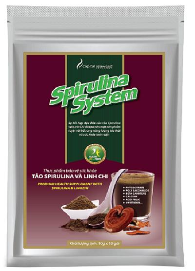 review thực phẩm tảo spirulina và nấm linh chi