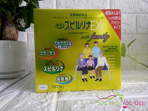 Tảo vàng cao cấp spirulina EX Nhật Bản hộp 2000 viên