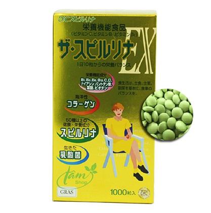 """Tảo vàng Ex 1000 viên Nhật Bản """"thần dược"""" cho sức khỏe và sắc đẹp"""