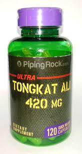 Tongkat Ali Piping Rock Ultra hộp 120 viên - hỗ trợ điều trị vô sinh nam giới