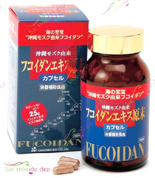 review viên uống tảo fucoidan nhật bản 150 viên