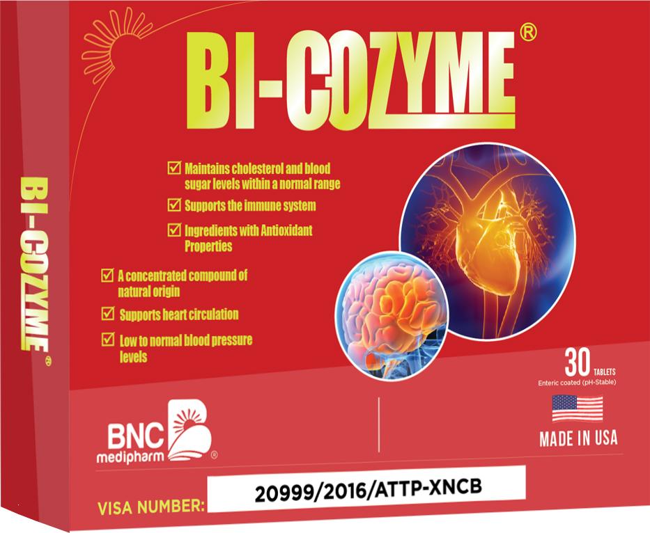 Viên uống Bi-Cozyme - Giảm Nguy Cơ Tai Biến Mạch Máu Não, Nhồi Máu Cơ Tim
