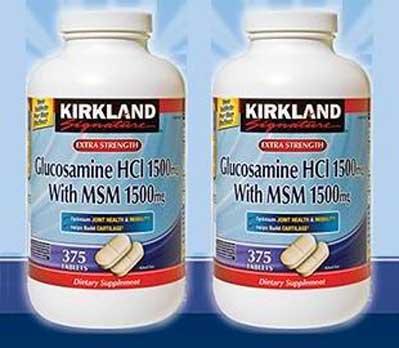 viên uống bổ xương khớp glucosamine HCL 1500mg Kirkland hộp 375 viên