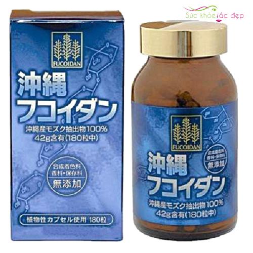 review viên uống tảo okinawa fucoidan nhật bản 180 viên