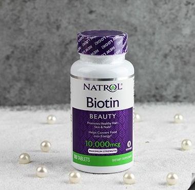 Natrol Biotin 10000 mcg – chống rụng tóc, chăm sóc móng hiệu quả