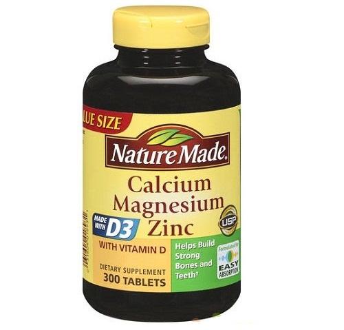 Viên uống Nature Made Calcium Magnesium cung cấp Vitamin D3 chống lão xương