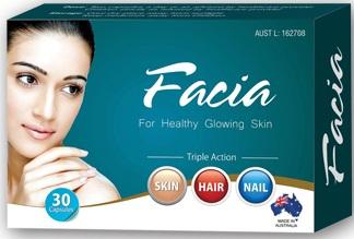Viên uống trị nám, trắng da Facia - viên uống dưỡng da và làm đẹp tóc