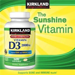 Vitamin D3 2000IU Kirland - Tăng cường sự phát triển xương khớp