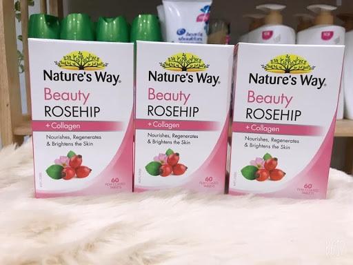 nature's way beauty rosehip + collagen - bí quyết cho làn da khỏe đẹp