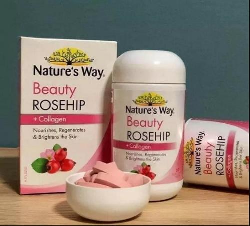 nature's way beauty rosehip + collagen hộp 60 viên