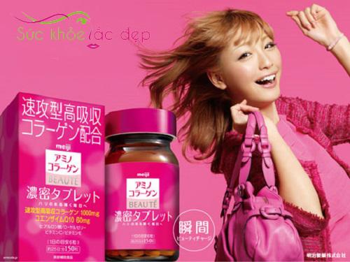 Viên uống Collagen Meiji Beaute tiện lợi, dễ sử dụng