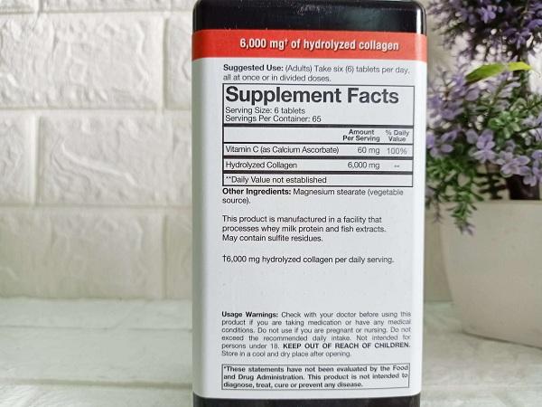 Collagen Advanced Formula 390 viên