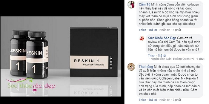 Collagen Label N - Reskin 1 review trên facebook