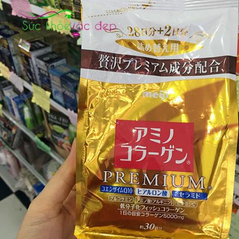 Collagen Meiji Premium có thành phần tự nhiên, an toàn