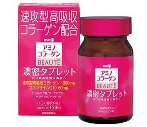 Viên uống collagen Meiji beauty làm căng da chống lão hóa Nhật