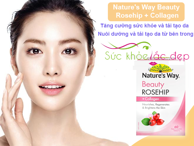 Natures Way Beauty Rosehip + Collagen 60 tablets