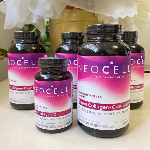NeoCell Super Collagen Tipe I & III + Vitamina C  360v mẫu mới