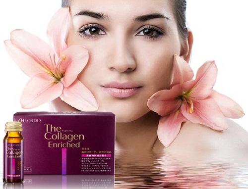 Tác dụng của nước uống collagen shiseido enriched