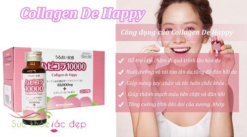 Tác dụng của Collagen De Happy mang lại