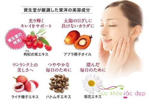 Collagen Shiseido Pure White có thành phần từ tự nhiên