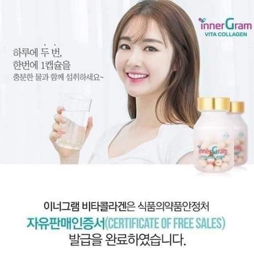 Viên uống trắng da cấp nước Inner Gram Vita Collagen Hàn Quốc