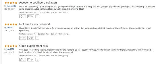 Youtheory Collagen 390 viên review tốt từ khách hàng trên Ebay