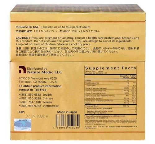Fucoidan 3-plus Naturemedic dạng nước