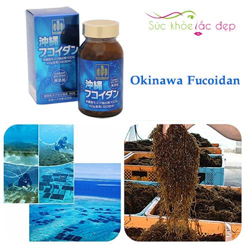 Okinawa Fucoidan Nhật Bản sản xuất từ nguồn nguyên liệu đảm bảo