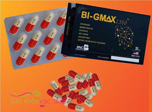 Hình ảnh review viên uống Bi-gmax 1350 của Mỹ