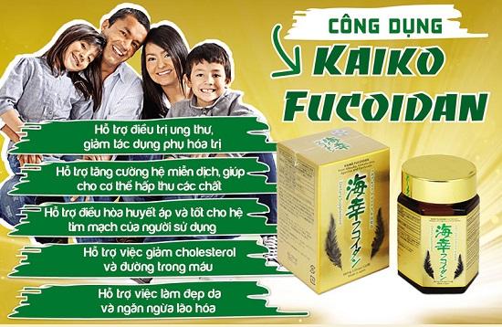 tác dụng của kaiko fucoidan 120 viên